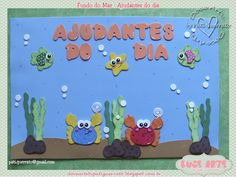 Este kit foi para a Adriana decorar sua salinha. Obrigada, querida!!! Amei as peças e você o que acho... Ocean Projects, Flora, Kindergarten, Alice, Classroom, Kids Rugs, Diy Crafts, Education, School