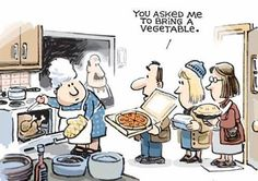 A roundup of funny and provocative cartoons by the nation's top cartoonists. Current Political Cartoons, Vegetable Cartoon, Vegetable Pizza, Pizza Cartoon, Knead Pizza, Funny Links, Funny Turkey, Diet Humor, Family Humor
