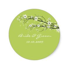 Wedding Stickers blossoms branches, custom colour!