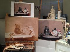 Working on Master copy in my studio. 19th century French artist Henri Fantin Latour. https://www.facebook.com/ChristinaGrachekArt