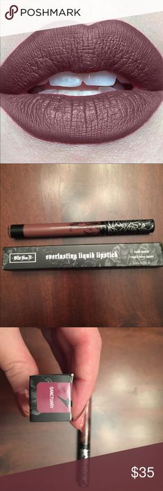 """Kat Von D Everlasting Liquid Lipstick in Sanctuary Last one left! New, never opened, authentic.  Exclusive early access to the never-before-seen Kat Von D Everlasting Liquid Lipstick shade """"Sanctuary""""— a cool sepia shade that's a perfect neutral for everyone. Sold out online.  Price is firm, thanks! Sephora Makeup Lipstick"""