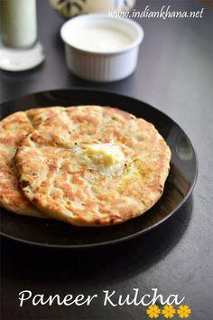 Paneer Kulcha Recipe | Restaurant Style Paneer Kulcha | Indian Bread Recipes ~ Indian Khana