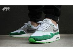 Nike Air Max 1 Breeze (White / Dark Grey - Silver - Pine Green)