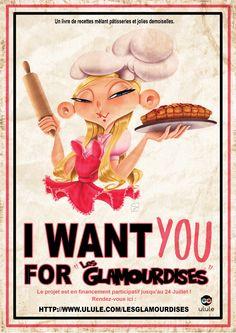 Un livre de pâtisserie et de pin-ups illustré lancé en financement participatif sur ulule . Achetez votre exemplaire : http://fr.ulule.com/lesglamourdises/  A cookbook project with pastries and pin-ups, it's a crowdfunding project on the ulule website, go buy yours : http://fr.ulule.com/lesglamourdises/