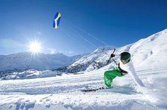 Snowkiting- also looks like a blast!