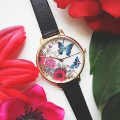 Blooms continue to flourish and they take on a romantic, ethereal feel with this collection of watches. Enchanted Garden, Olivia Burton, Henna, Butterflies, Fashion Accessories, Jewellery, Watches, Detail, Lady