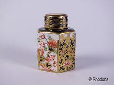 Royal Crown Derby Miniature Tea Caddy