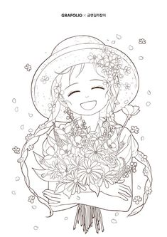 Cool Coloring Pages, Adult Coloring Pages, Coloring Books, Oriental, Girl Sketch, Cool Items, Embroidery Patterns, Mandala, Animation