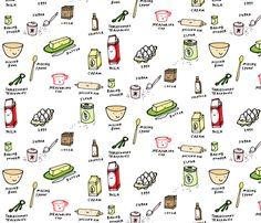 lets bake fabric by anda on Spoonflower - custom fabric
