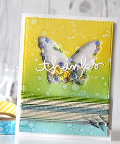 Such a Fun and Pretty shaker card created by  Yoonsun Hur using Simon Says Stamp Exclusives.