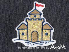 Aufnäher Sandburg ♥ Applikation Sandburg ♥ maritim von AnCaNi auf DaWanda.com
