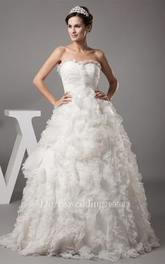 #Valentines #AdoreWe #Dorris Wedding - #Dorris Wedding Sweetheart A-Line Ruffled Ball-Gown With Ruching - AdoreWe.com