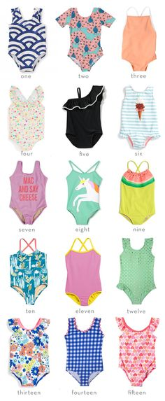 Fifteen Swimsuits for Girls | Thrifty Littles