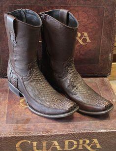 Cuadra Python Leather Boots www.nessabel.com Nessabel Western Boots