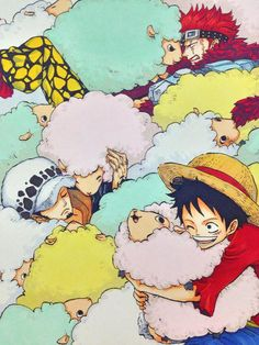 Monkey.D Luffy,Eustass Kid & Trafalgar D Water Law