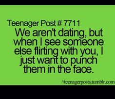 I do punch someone that flirting with my bff.my bff is a boy 😉 Funny Girl Quotes, Teenager Quotes, Funny Quotes For Teens, Quotes For Him, Teenager Posts Crushes, Smile Quotes, Quotes Slay, Crush Quotes Funny, Guy Quotes