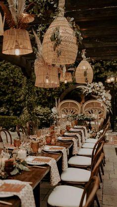 Wedding Reception Design, Wedding Reception Lighting, Wedding Reception Decorations, Wedding Favors, Rustic Wedding, Bohemian Wedding Decorations, Eclectic Wedding, Wedding Dinner, Forest Wedding