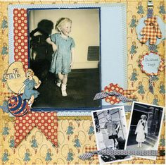 @Scrapbook.com user AuntJo shares this Layout: Childhood Days using An ABC Primer! Isn't this adorable? #graphic45 #layouts