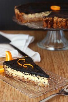 Dark Chocolate Orange Ricotta Tart with Honey Almond Crust | cupcakesandkalechips.com | #grainfree #glutenfree #dessert
