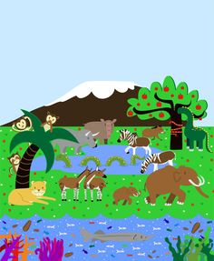 Let's go back in time! Most of these animals are extinct. How many can you name? - Constança Nobre