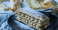Millefeuille with peanut butter filling