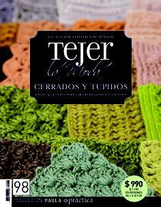 Cerrados y tupidos. Revista 98. Knitting Magazine, Crochet Magazine, Crochet Chart, Knit Crochet, Crotchet Stitches, Knitting Patterns, Crochet Patterns, Crochet Books, Album