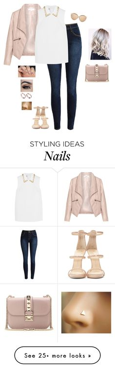 """The Independent Woman"" by hanakdudley on Polyvore featuring Zizzi, Miu Miu, Giuseppe Zanotti, Linda Farrow, Valentino, women's clothing, women, female, woman and misses"