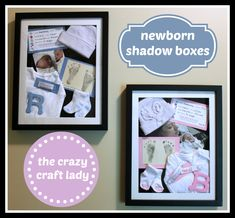 newborn shadow boxes - the crazy craft lady