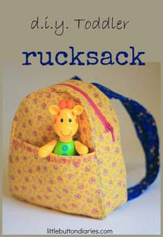 Make a toddler rucksack with little button diaries #craft #sewing #kids