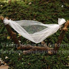Miniature Fairy Hammock  Visit homenhearts.com for great home ideas and product. #homenhearts #ilovemyhome