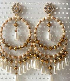 Seed Bead Earrings, Beaded Earrings, Earrings Handmade, Handmade Jewelry, Bead Jewellery, Beaded Jewelry, Bead Crafts, Jewelry Crafts, Crystal Crown