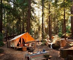 Looking to get out to nature in luxury? Check out this secluded eco-friendly camping accommodation near Lucia, California Camping Glamping, Luxury Camping, Diy Camping, Camping World, Camping Life, Camping Survival, Camping Hacks, Outdoor Camping, Survival Tips