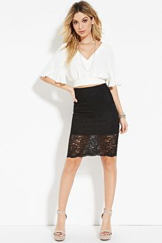 This black lace pencil skirt ($12.90):