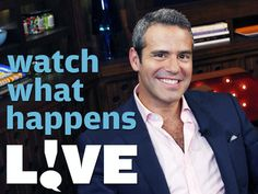 Whatch What Happens Live is a late night talk show that dissects reality television Late Night Show, Bravo Tv, Tv Times, Tv Land, Reality Tv Shows, Yesterday And Today, Me Tv, Real Housewives, Favorite Tv Shows