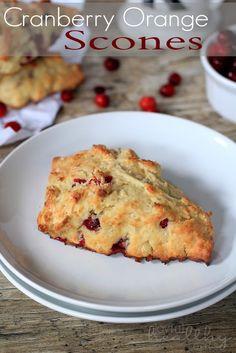Whole Wheat Cranberry Orange Scones | www.joyfulhealthyeats.com | #cranberry #orange #scones #recipes #breakfast #wholewheat #holiday