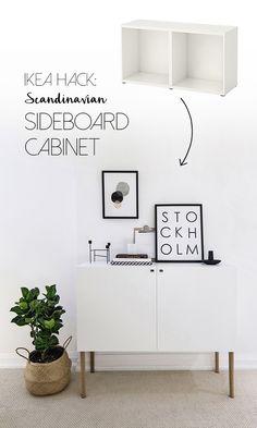 Ikea Besta hack - Scandinavian sideboard cabinet | Tutorial by Happy Grey Lucky