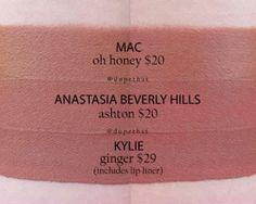 MAC Oh Honey vs. ABH Ashton vs. KC Ginger*