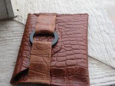 Leather Croc Wallet SALE by BitchinBagsbyBenita on Etsy, $16.00 was 20.00