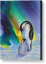 Penguin Canvas Painting | Penguins Paintings Canvas Prints and Penguins Paintings Canvas for ...