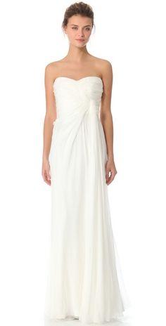 Alberta Ferretti Strapless Gown