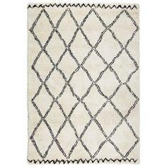 Vloerkleed Varamin Zwart/wit 160x230 cm, alles voor je klus om je huis & tuin te verfraaien vind je bij KARWEI