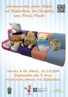 NOVAS DAS BIBLIOTECAS: Contos para bebés na Biblioteca de Chapela, con Pavís Pavós. Día do Libro Infantil e Xuvenil. Programa Ler conta Moito. Abril 2016