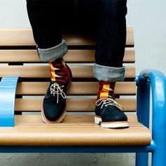 #shoes #socks #color #menswear #fashion #male #denim #blue menswear