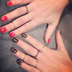 The month of festive holiday manicures continues...