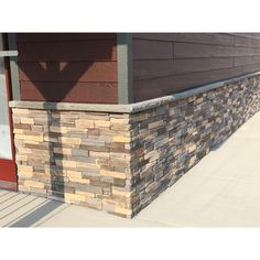Adorn Mortarless Stone Veneer is the natural choice for your next home improvement or new construction project. Adorn gives you the power to easily add a robust stone character to any interior or exterior House Siding, House Paint Exterior, Exterior House Colors, Exterior Design, Stone Veneer Exterior, Stone Siding, Rock Siding, Faux Stone Panels, Modern Farmhouse Exterior