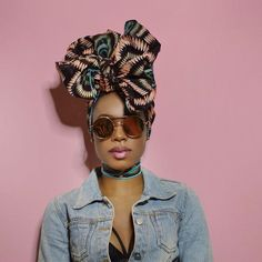 Image result for straight hair with african head wrap