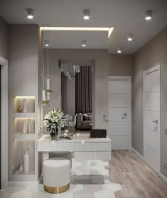 New dream closet design lighting Ideas Modern Interior, Home Interior Design, Home Bedroom, Bedroom Decor, Bedroom Apartment, Apartment Ideas, Dressing Table Design, Flur Design, Hallway Designs