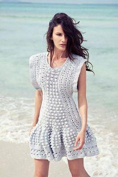 Coleção de Verão em crochê Florence Barreth   Moda em Crochê. Vestido de crochê.Crochet,dress, fashion, editorial
