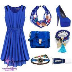 Blue European fashion