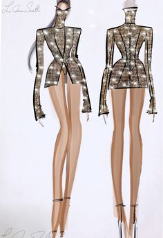 Designer LaQuan Smith says he only had 2 weeks to prepare & make Beyonce's opening costume for the OTR II Tour at the Principality Stadium Cardiff Wales June 2018 Beyonce Costume, Wedding Bodysuit, Laquan Smith, Beyonce And Jay Z, Fashion Sketches, Fashion Drawings, Get The Look, Style, Sketches